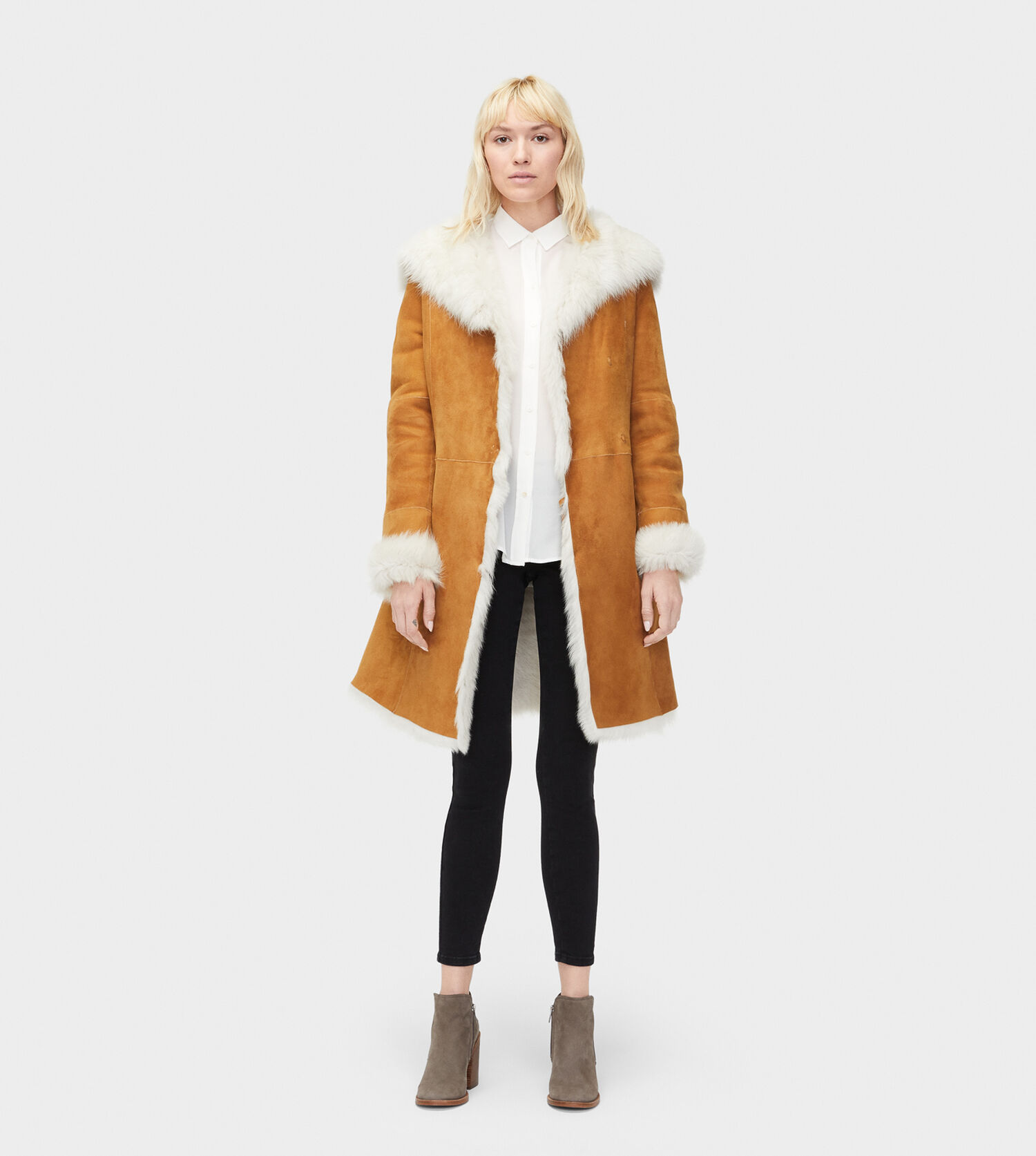 ugg shearling coat mens