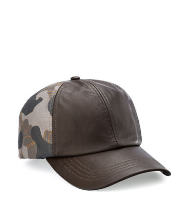 Wool and Leather Baseball Hat