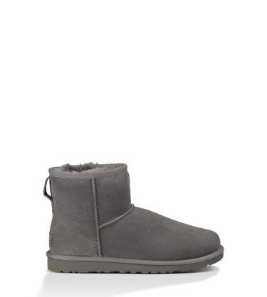 Women's Grey Classic Mini Boot Side View