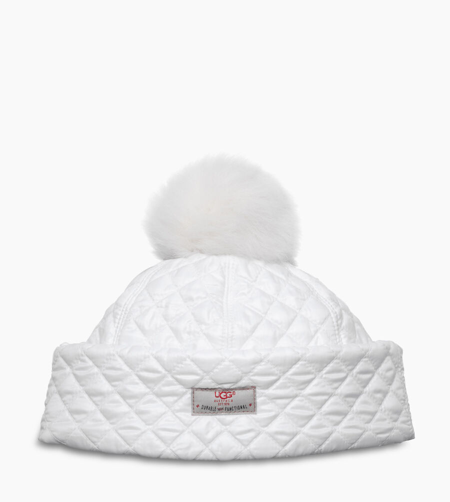 Quilted Pom Hat - Image 1 of 1