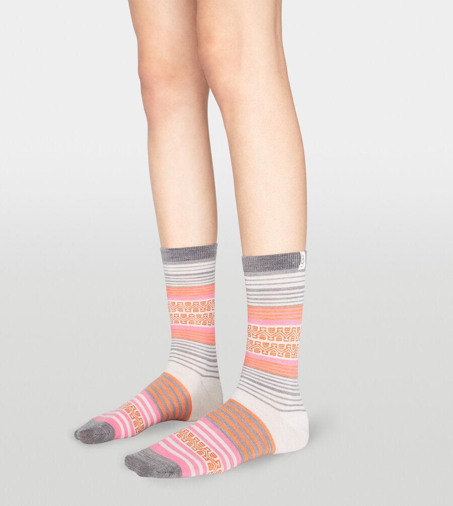 Merino Wool Stripe Crew Sock - Image 1 of 2