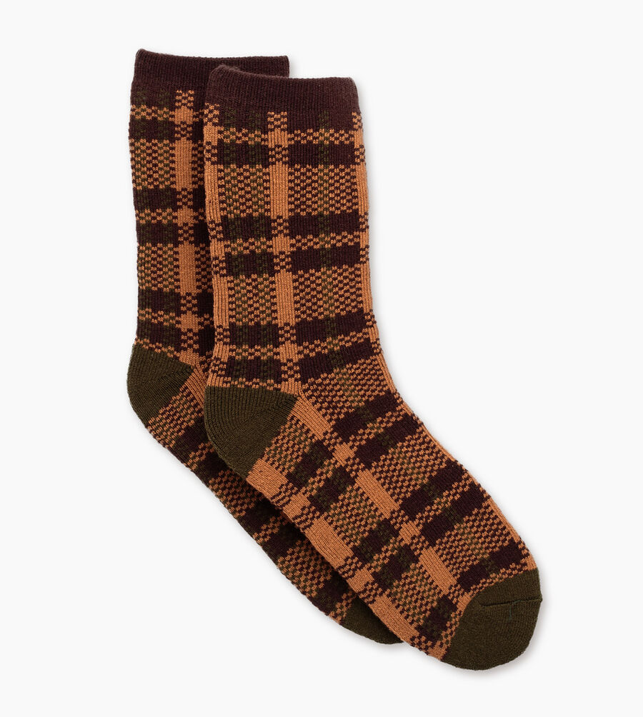 Plaid Crew Sock - Image 1 of 3