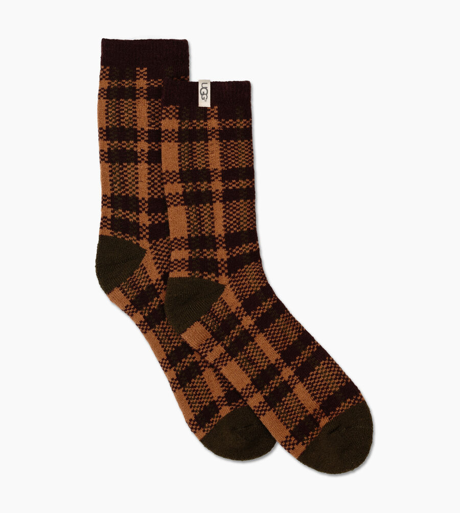 Plaid Crew Sock - Image 3 of 3