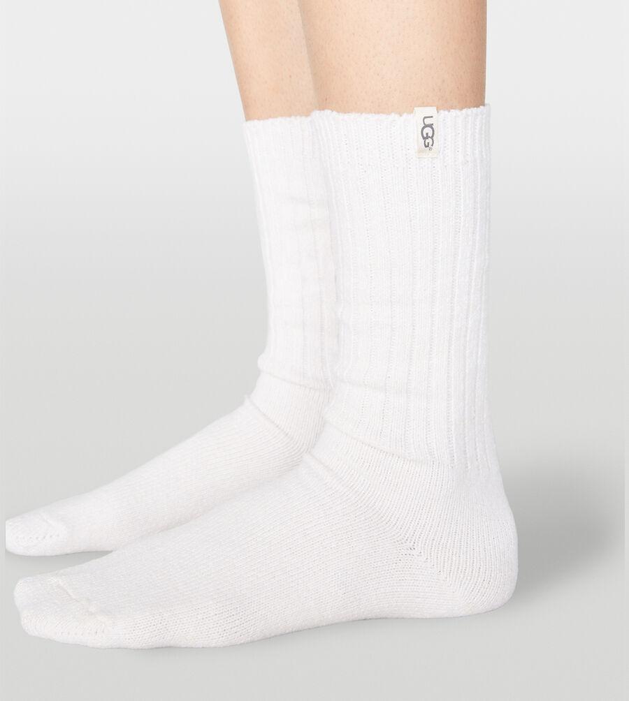Rib Knit Slouchy Crew Sock - Image 3 of 3
