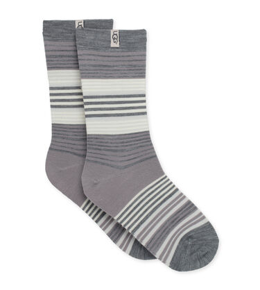 Merino Wool Jacquard Crew Sock