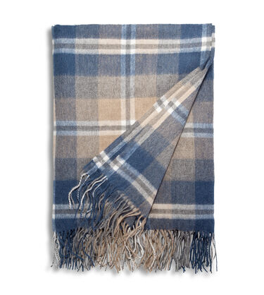 Glacier Plaid Throw