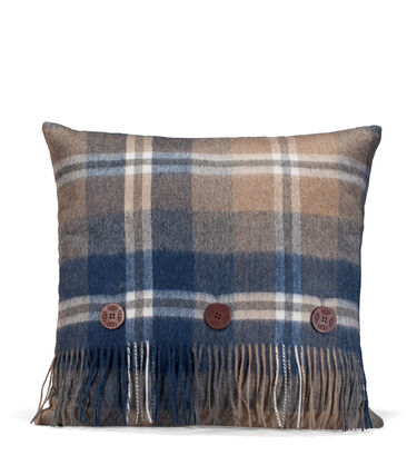Glacier Plaid Pillow