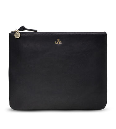 Large Zip Pouch Leather