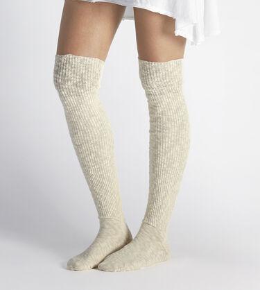 Slouchy Slub Thigh High Sock