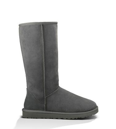 Women's grey Bailey Button Boot Side View