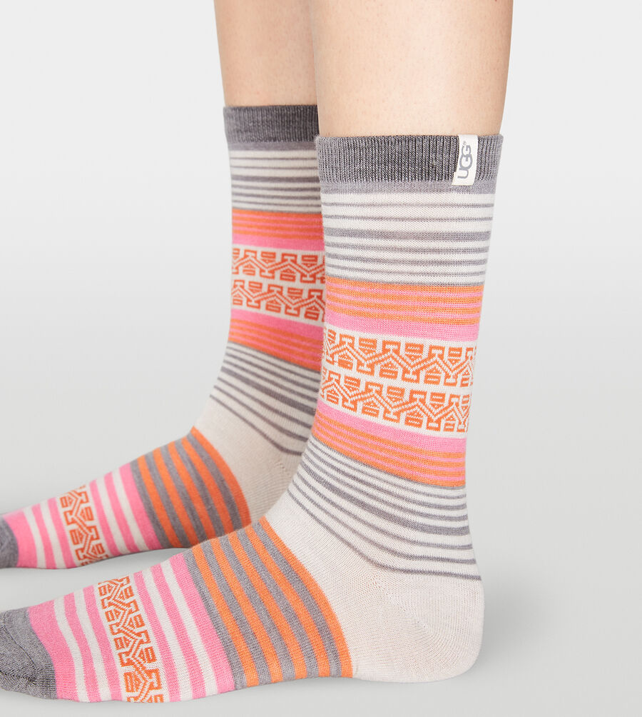 Merino Wool Stripe Crew Sock - Image 2 of 2