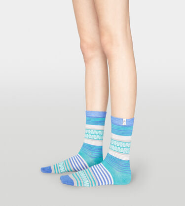 Merino Wool Stripe Crew Sock