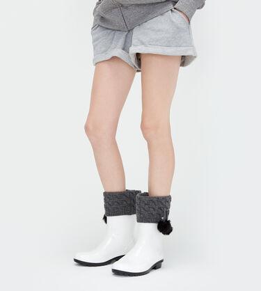 Pom Pom Short Rain Boot Sock