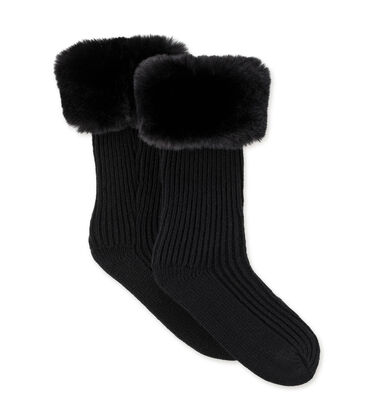 Faux Fur Rain Boot Sock