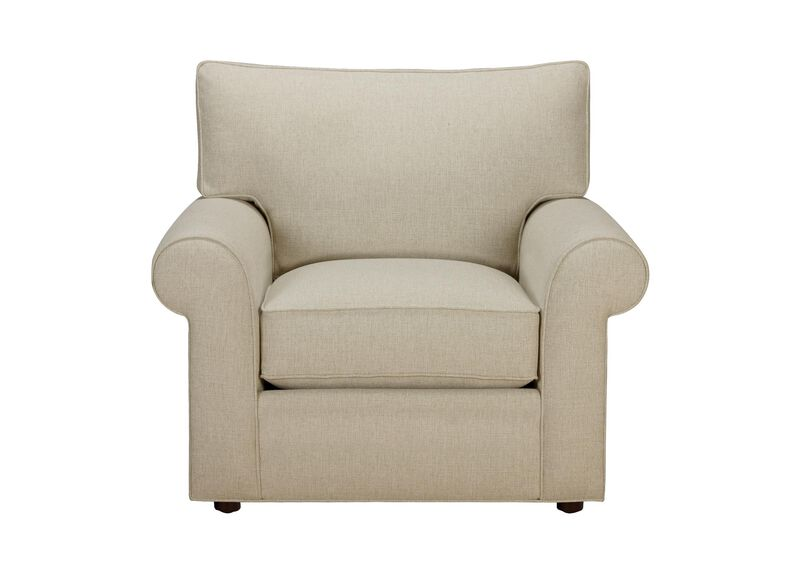 Retreat Roll-Arm Chair, Quick Ship , Hailey Oatmeal (Q1033), solid texture , large_gray