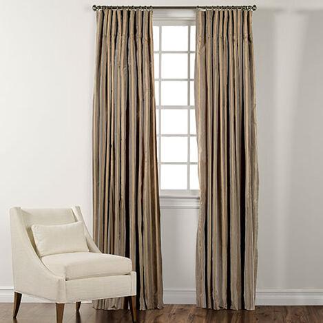 """100"""" Titanium Taffeta Stripe Inverted Pleat Panel ,  , large"""