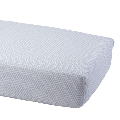Dotty Crib Sheet, Mouse Grey ,  , large