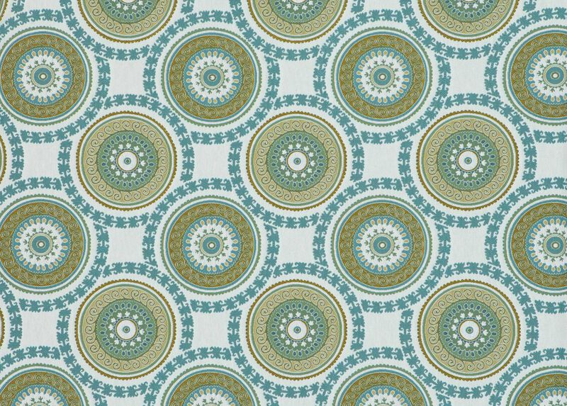Suzani Aqua Fabric by the Yard ,  , large_gray