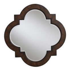 Dark Quatrefoil Mirror ,  , large