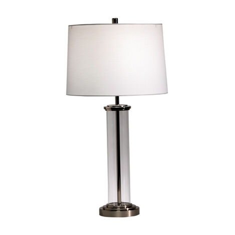 Lampe de table cylindrique en verre Accent ,  , large