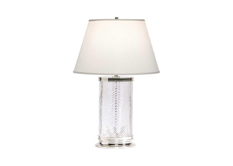 Herringbone Glass Table Lamp ,  , large_gray