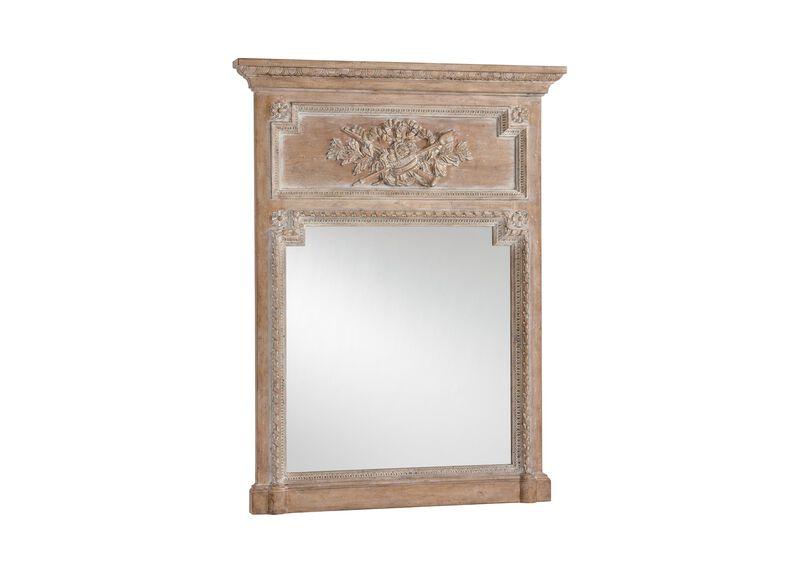 Aged Oak Madeleine Trumeau Wall Mirror ,  , large_gray
