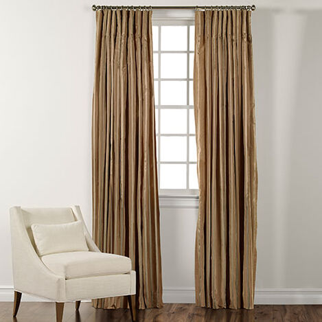 "100"" Cafe Taffeta Stripe Inverted Pleat Panel ,  , large"