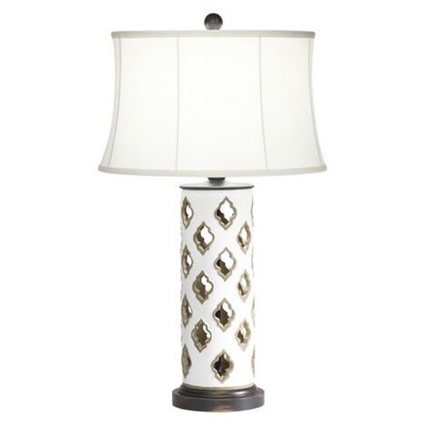 Ava Cut Terracotta Table Lamp ,  , large