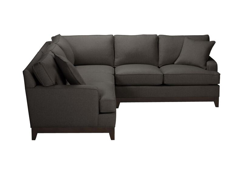 Arcata Three Piece Sectional, Quick Ship , Hailey Charcoal (Q1055), solid texture , large_gray
