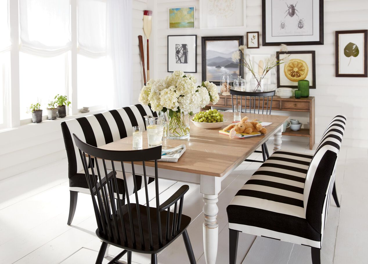 Rustic white dining table - Miller Rustic Dining Table Alt