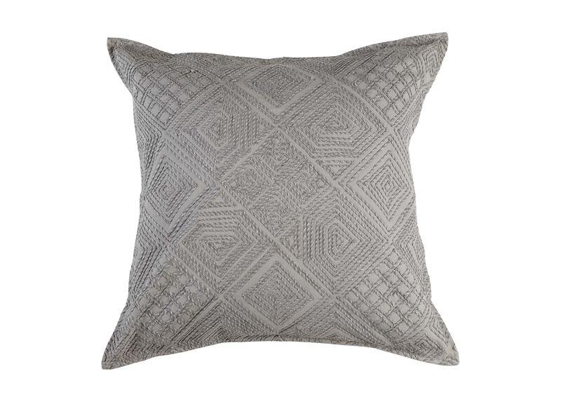 Modern Gray Diamond Cord Pillow ,  , large_gray