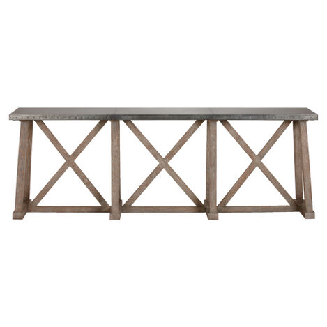 Bruckner Metal-Top Console Table ,  , large
