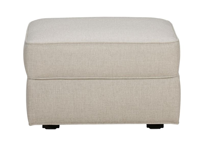 Retreat Ottoman, Quick Ship , Hailey Natural (Q1031), solid texture , large_gray