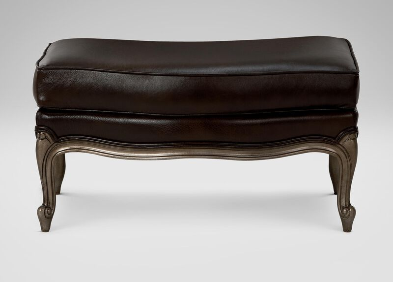 Versailles Leather Ottoman ,  , large_gray