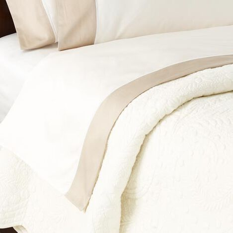 Hayden Flat Sheets, Ivory/Flax ,  , large