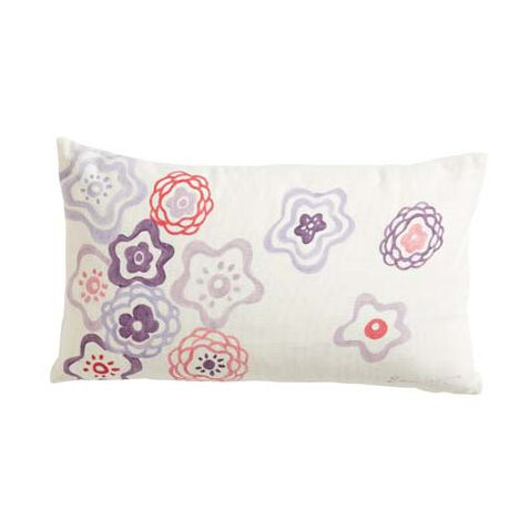 Nikki Hand-Painted Floral Pillow ,  , large