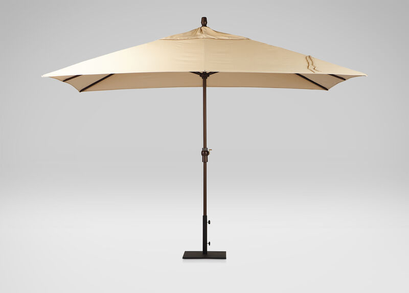 Khaki Rectangular Market Umbrella ,  , large_gray