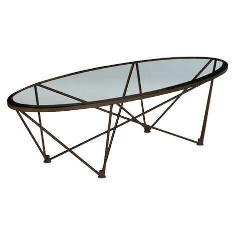 Kestral Oval Coffee Table, Vintage Steel ,  , large