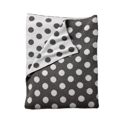 Dotty Stroller Blanket, Mouse Grey ,  , large