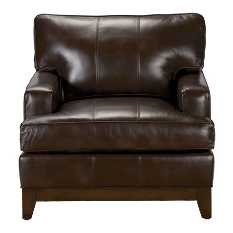 Arcata Leather Chair, Quick Ship. LIVING ROOM ... - Shop Living Room Chairs & Chaise Chairs Accent Chairs Ethan Allen