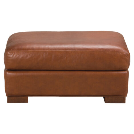 Hudson Leather Ottoman ,  , large