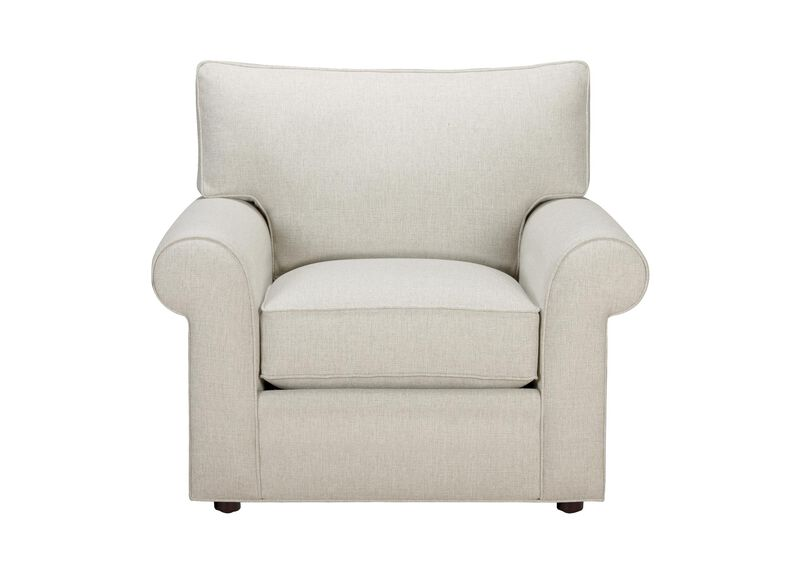 Retreat Roll-Arm Chair, Quick Ship , Hailey Ivory (Q1032), solid texture , large_gray
