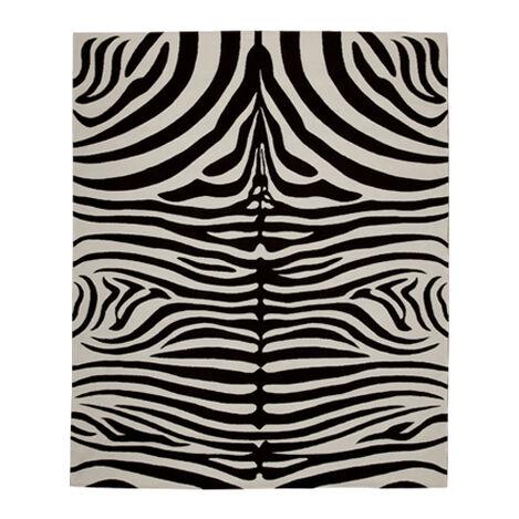 Nova Zebra Rug, Black/Ivory ,  , large