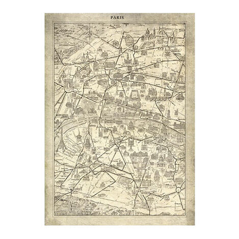 Paris Map I Vintage ,  , large