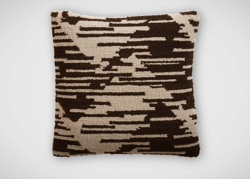 Scattered Chevron Wool Pillow ,  , large_gray