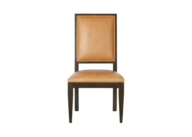 Hayden Tapered-Leg Leather Side Chair ,  , large_gray