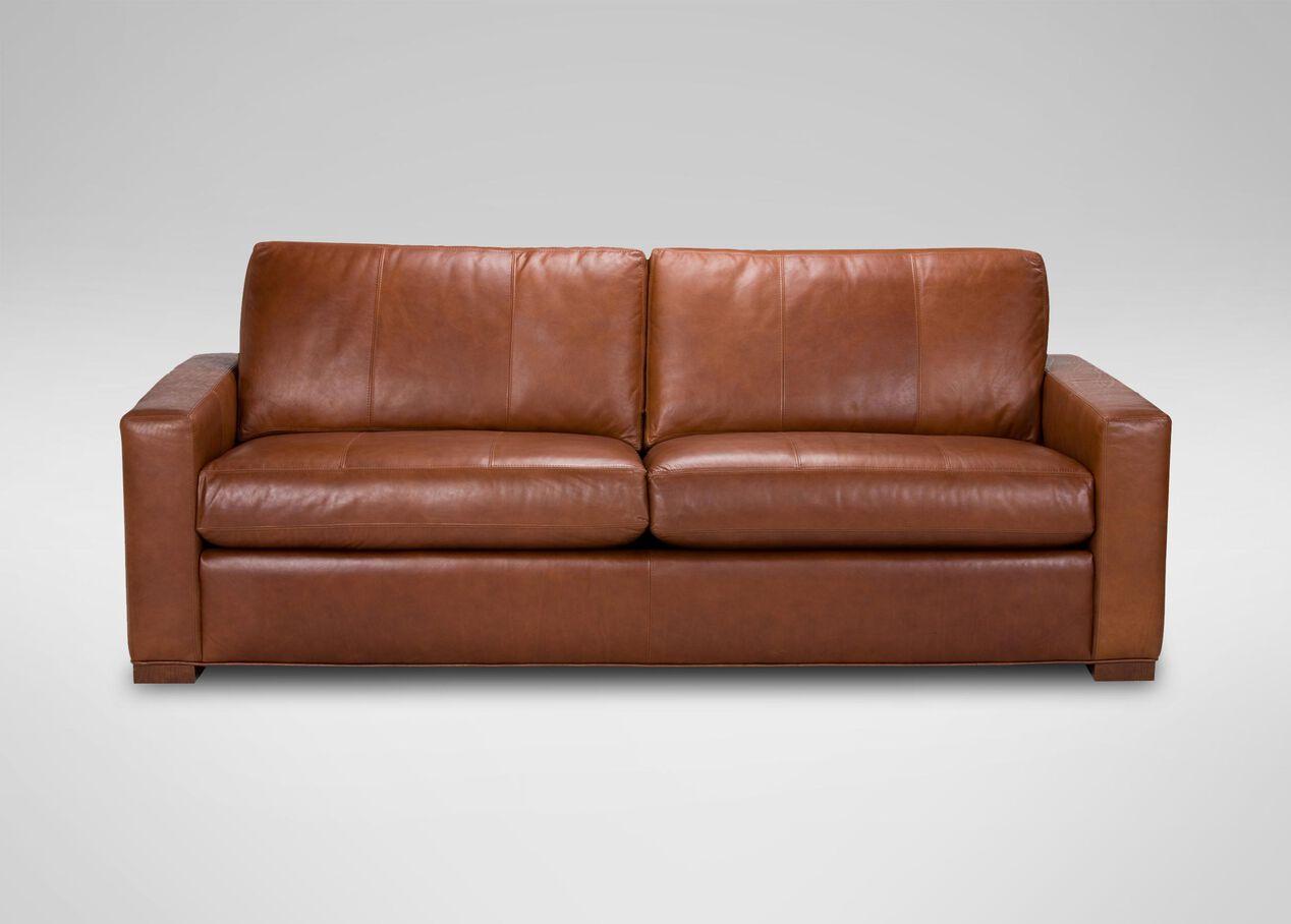 hudson leather sofa sofas loveseats. Black Bedroom Furniture Sets. Home Design Ideas