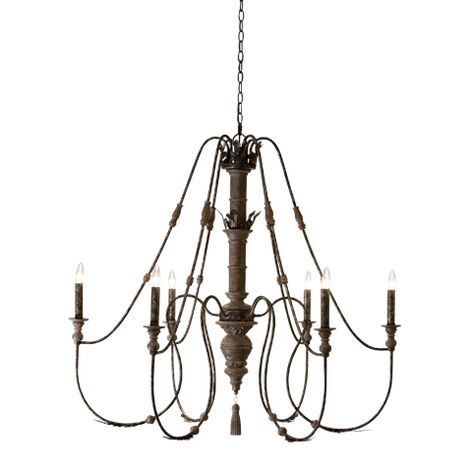 Declan Charcoal Chandelier ,  , large