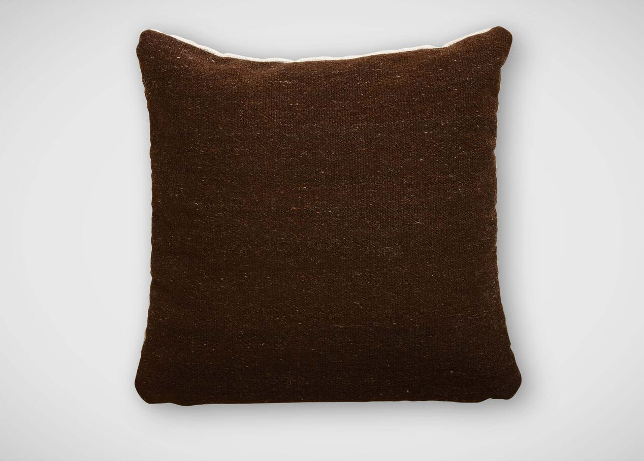Chocolate Brown Wool Pillow Pillows & Throws