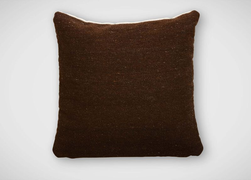 Chocolate Brown Wool Pillow ,  , large_gray